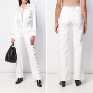 Levi's Made and Crafted White Union Trousers Jeans